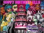A4 Personalised Monster High Edible Icing or Wafer Birthday Party Cake Topper